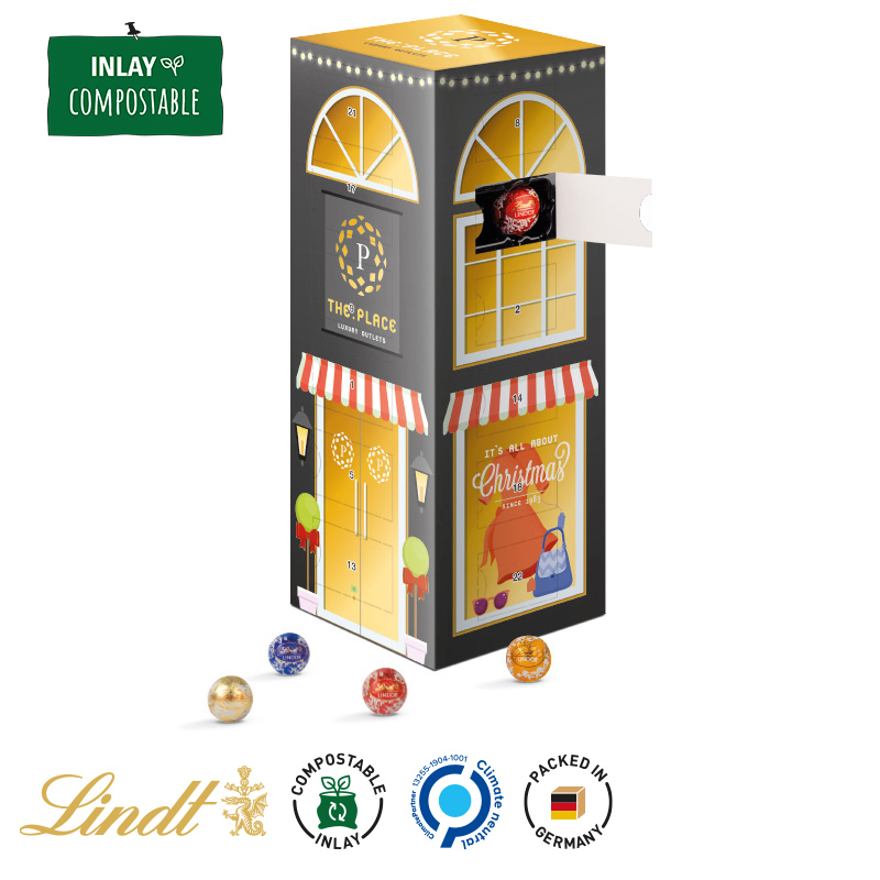 Lindor Weihnachtskalender.Tower Advent Calendar With Mini Chocolate Balls Jung Since 1828